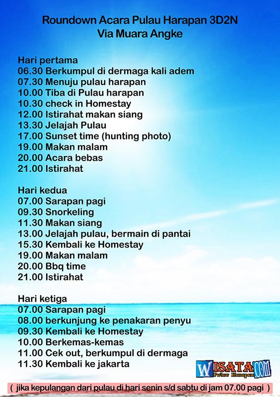 Acara wisata pulau Harapan