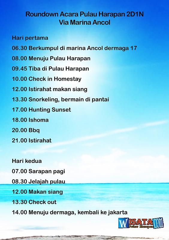Acara wisata Pulau Harapan dari ancol